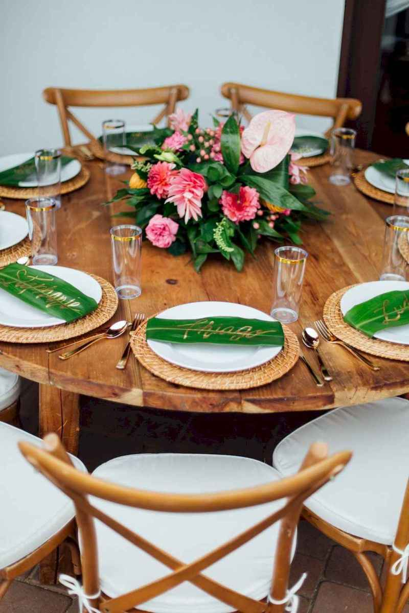47 Romantic Tropical Wedding Ideas Reception Centerpiece