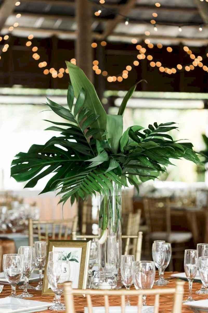 49 Romantic Tropical Wedding Ideas Reception Centerpiece