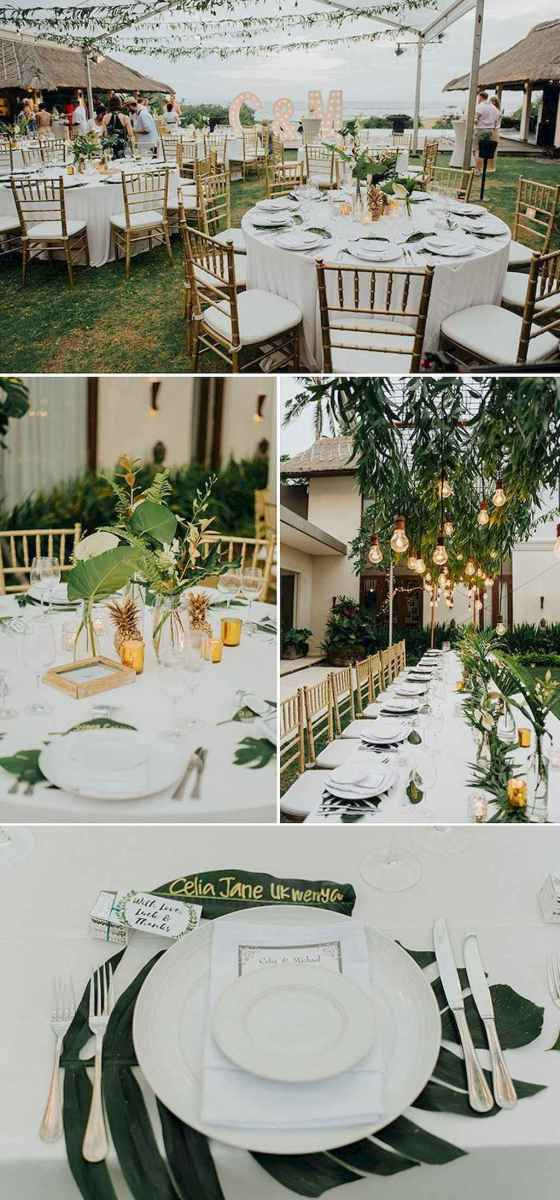 54 Romantic Tropical Wedding Ideas Reception Centerpiece