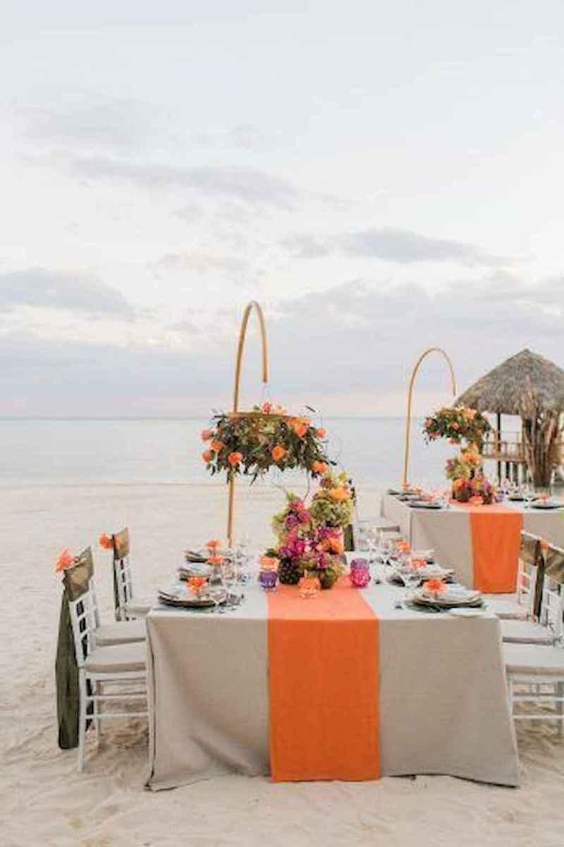 55 Romantic Tropical Wedding Ideas Reception Centerpiece