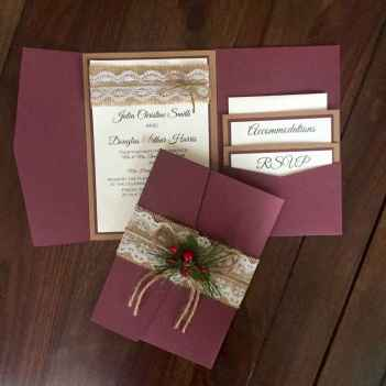 59 Elegant Christmas Wedding Invitations Ideas