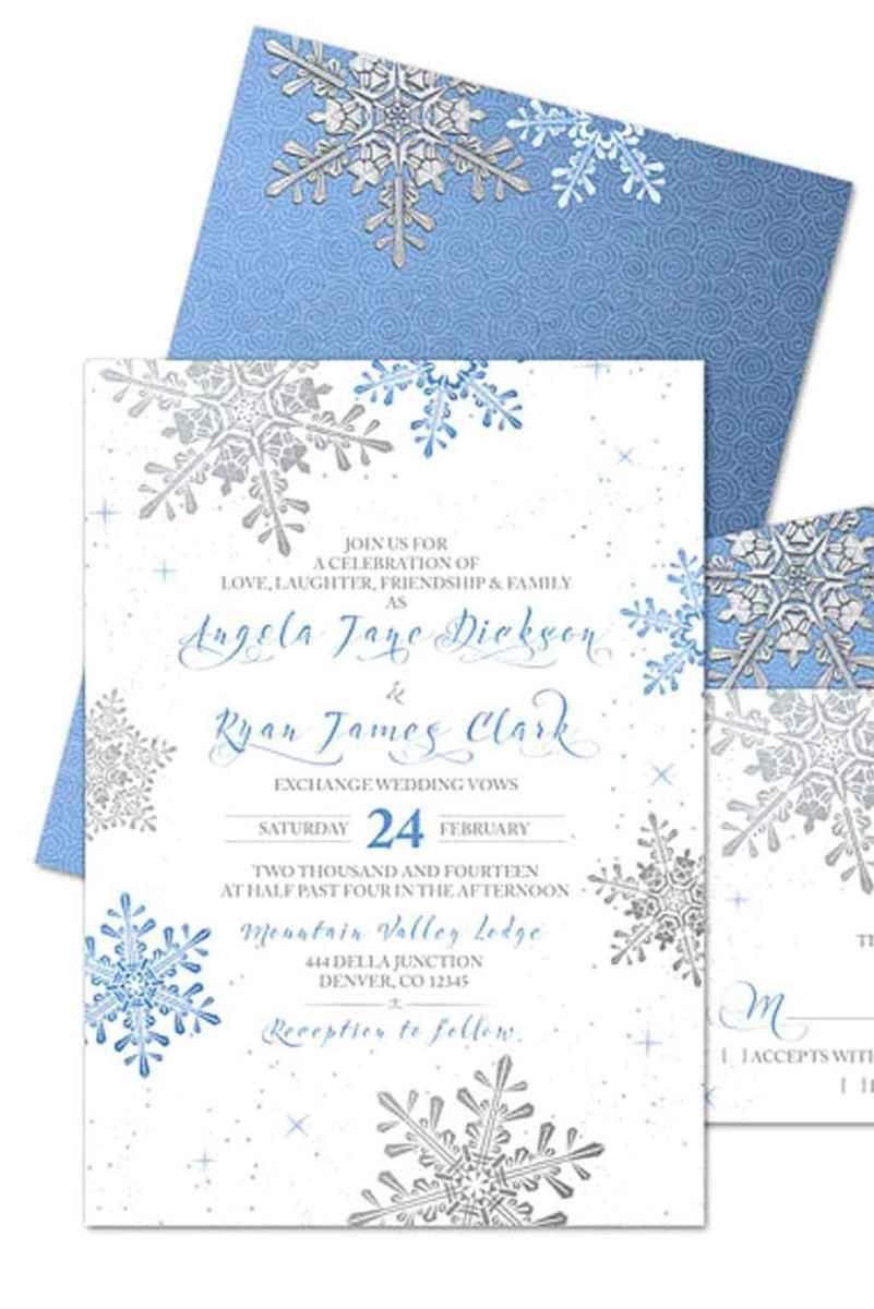 65 Elegant Christmas Wedding Invitations Ideas