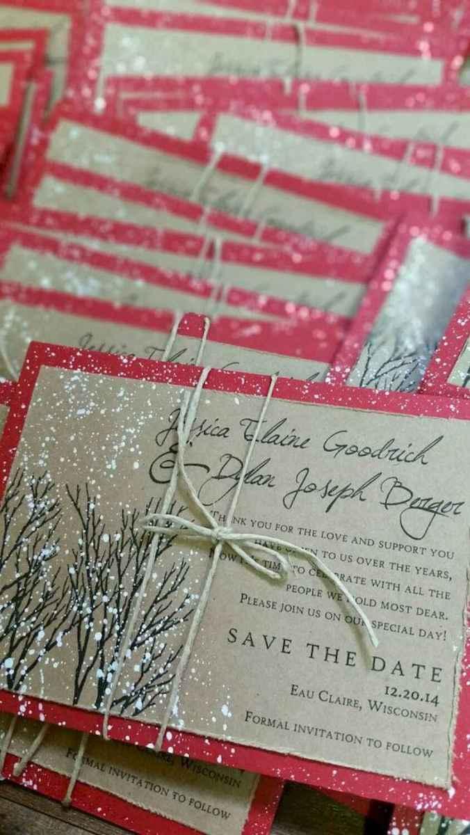 66 Elegant Christmas Wedding Invitations Ideas