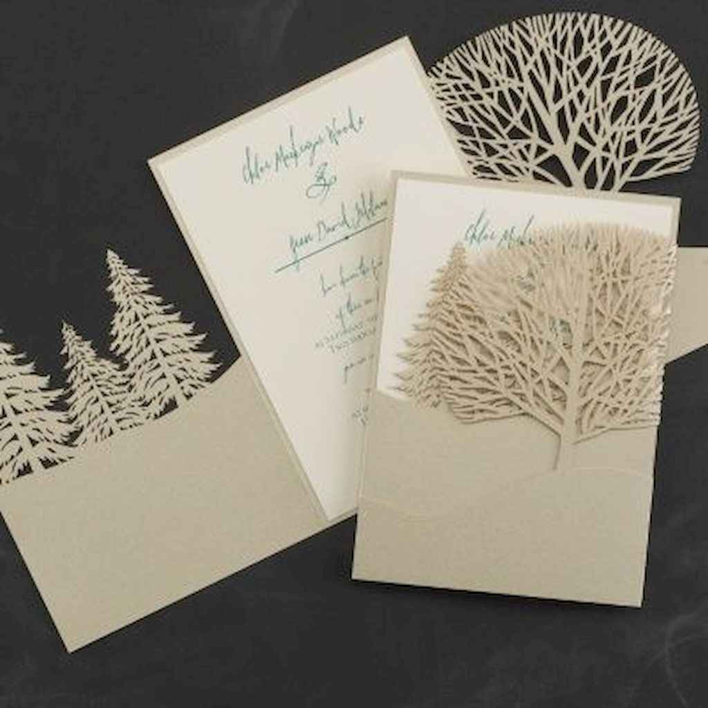 71 Elegant Christmas Wedding Invitations Ideas
