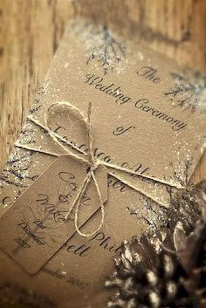 74 Elegant Christmas Wedding Invitations Ideas
