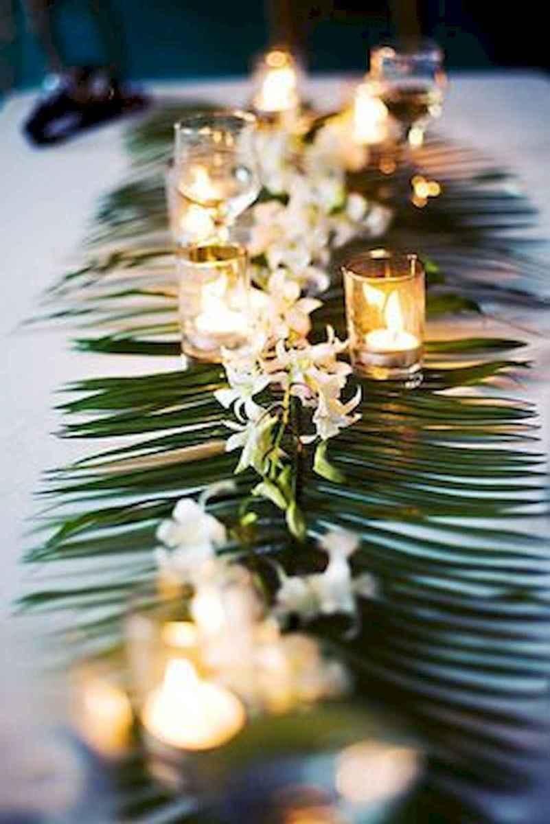 89 Romantic Tropical Wedding Ideas Reception Centerpiece