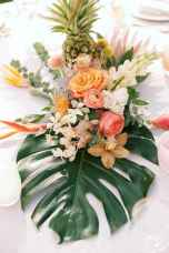 97 Romantic Tropical Wedding Ideas Reception Centerpiece