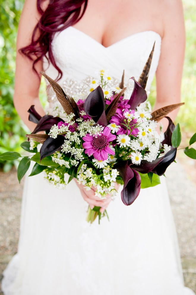 Enchanted Forest Wedding With A Touch Of Magenta Belle
