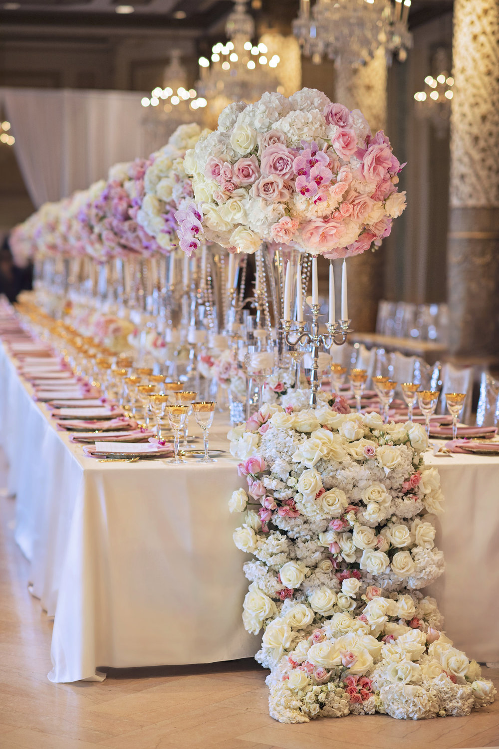 Wedding Ideas  Long Reception Tables  Belle The Magazine