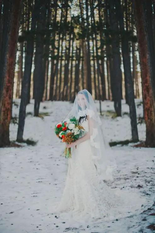 Western Winter Romance Bridal Inspiration  Belle The Magazine