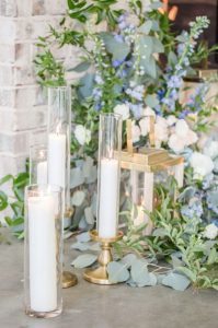 Greenery, Dusty Blue and Gold Spring Wedding Inspiration ...