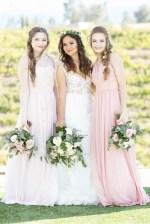 Long blush bridesmaid dresses - Janita Mestre Photography
