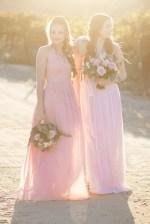 Long blush bridesmaid dresses- Janita Mestre Photography
