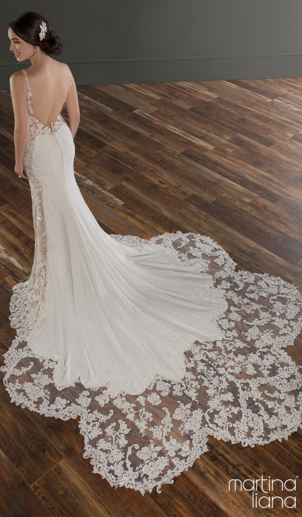 """Martina Liana Spring 2020 Wedding Dresses - 1128 """"width ="""" 615 """"height ="""" 1051 """"data-pin-description ="""" Make a Statement with Martina Liana's Latest Collection: """"A Statement of Love"""" 