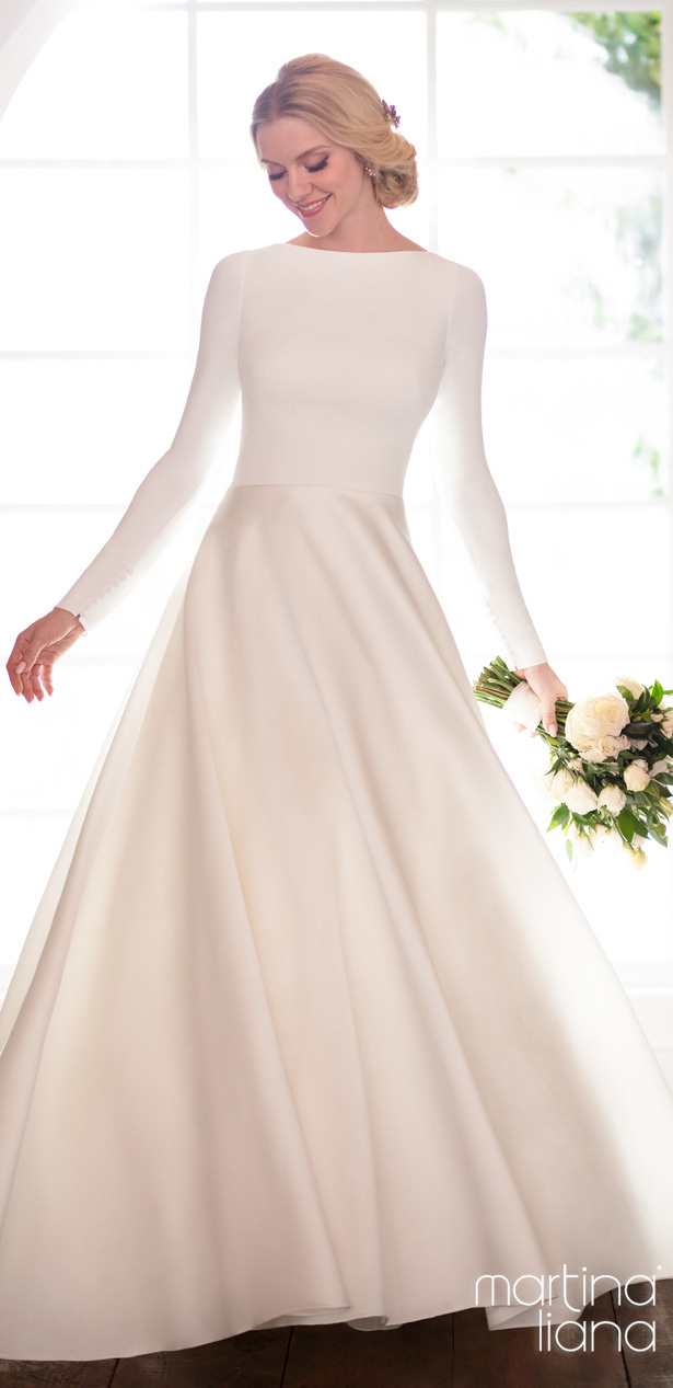 """Martina Liana Spring 2020 Wedding Dresses - 1157 """"width ="""" 615 """"height ="""" 1267 """"data-pin-description ="""" Make a Statement with Martina Liana's Latest Collection: """"A Statement of Love"""" 