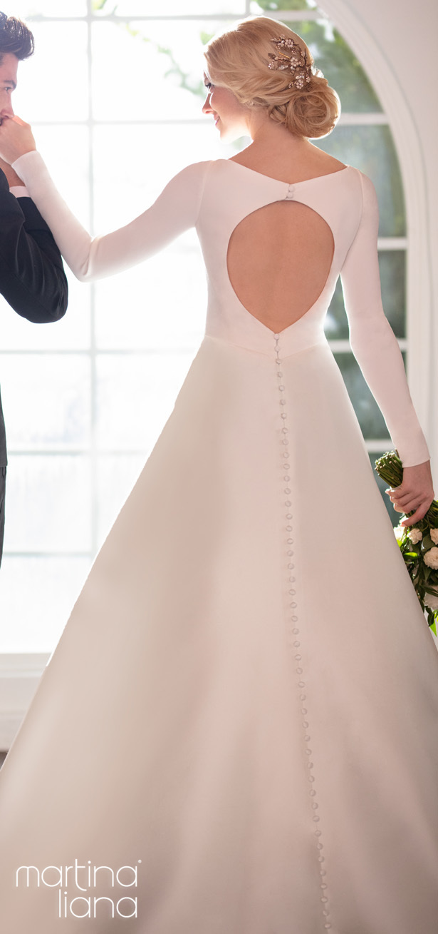 """Martina Liana Spring 2020 Wedding Dresses - 1157 """"width ="""" 615 """"height ="""" 1309 """"data-pin-description ="""" Make a Statement with Martina Liana's Latest Collection: """"A Statement of Love"""" 