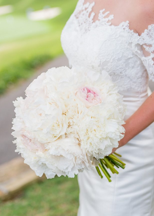 Classic Blush Wedding bouquet - Heather Durham Photography