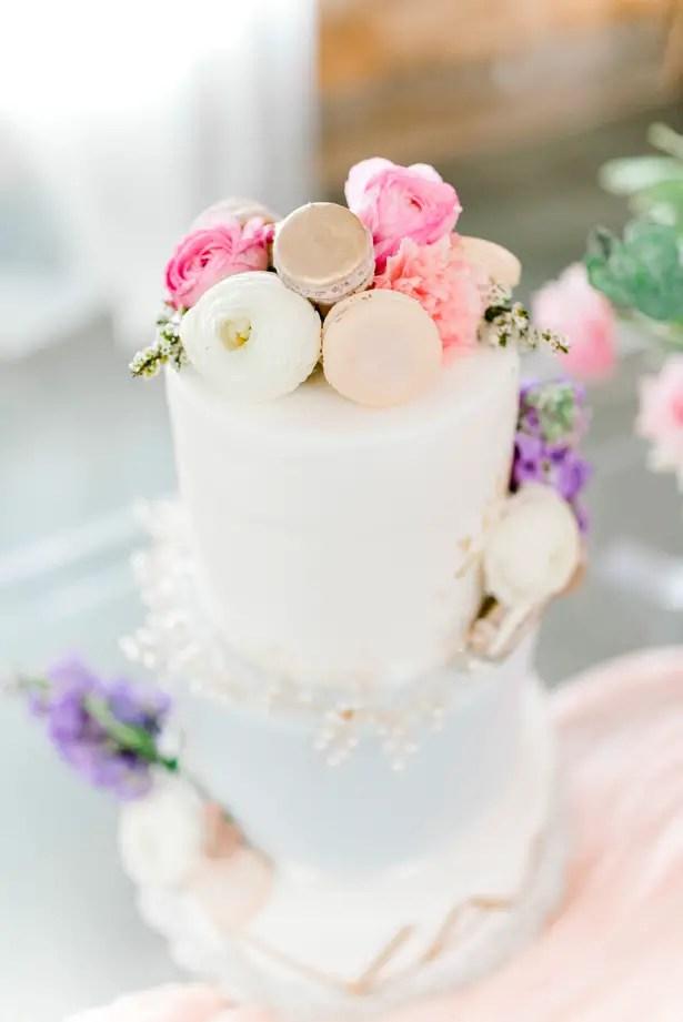 Feminine Pastel Wedding Cake for the Romantic Bride - Bobby Jean Photography