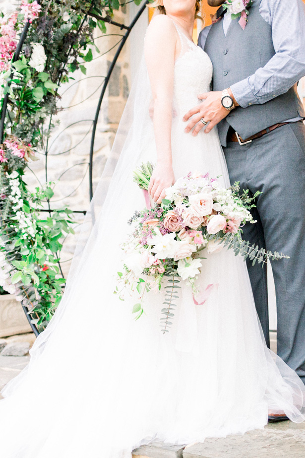Romantic wedding bouquet - Mallory McClure Photography