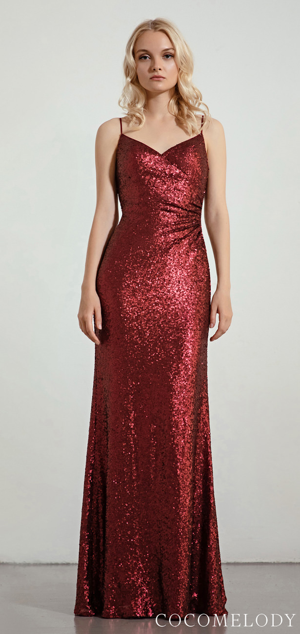 """Sequins Bridesmaid Dress Trends by Cocomelody 2020 - MOLL """"width ="""" 615 """"height ="""" 1298 """"data-pin-description ="""" Sequins Bridesmaid Dress Trends by Cocomelody 2020 - MOLLY 