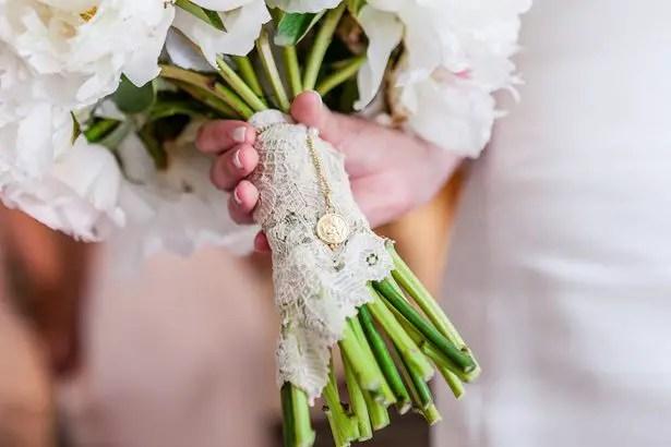 Wedding Bouquet Wrap- Heather Durham Photography