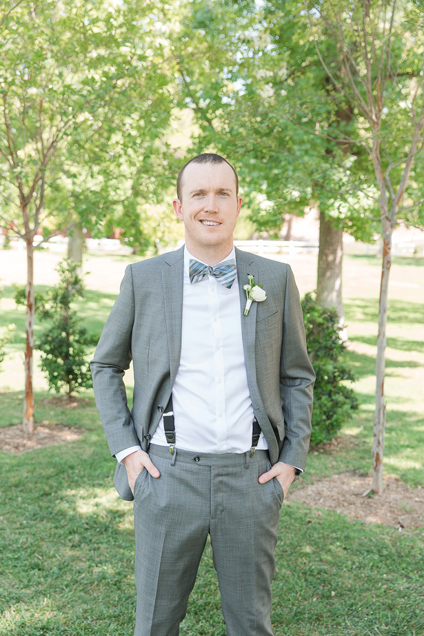 silver grooms suit - Theresa Bridget Photography