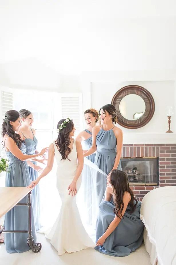 boho wedding bridesmaids - Theresa Bridget Photography