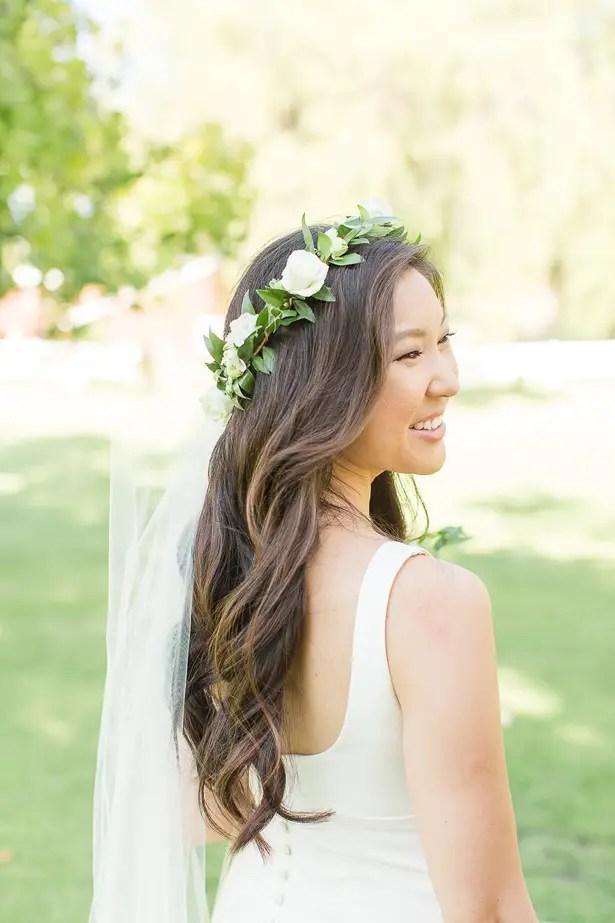 boho wedding hairpiece - Theresa Bridget Photography