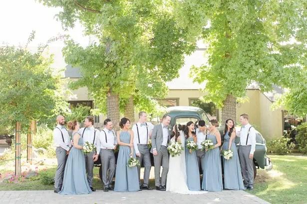 boho wedding party photo - Theresa Bridget Photography