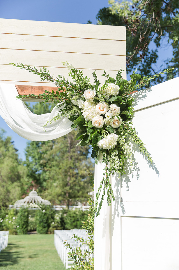 white rose wedding flowers - Theresa Bridget Photography