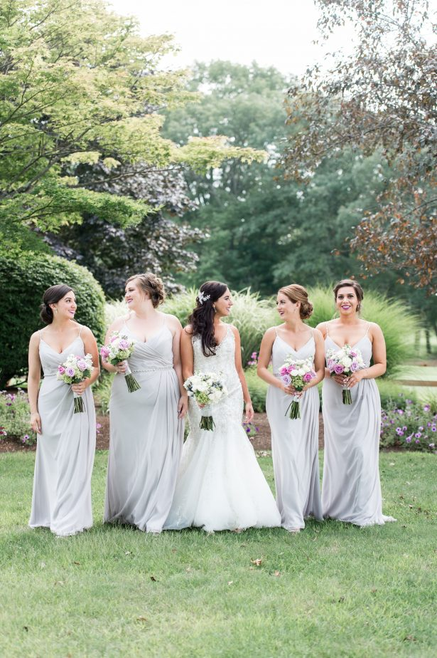 Long gray bridesmaid dresses - Lynne Reznick Photography