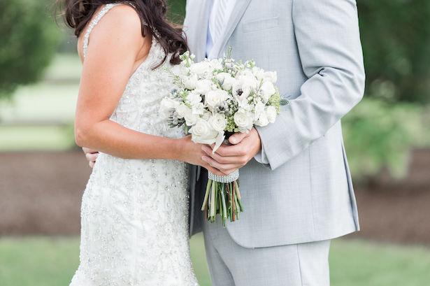 White wedding bouquet - - Lynne Reznick Photography