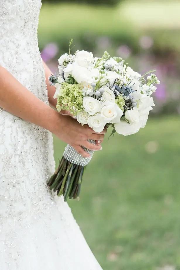 White wedding bouquet - Lynne Reznick Photography