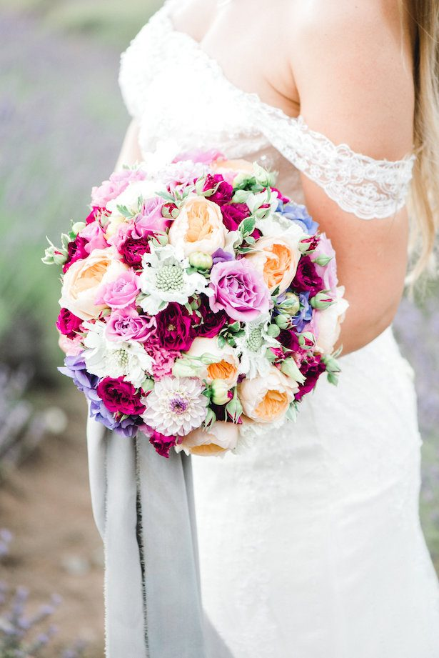 Colorful classic wedding bouquet 1 - Lauryn Kay Photography