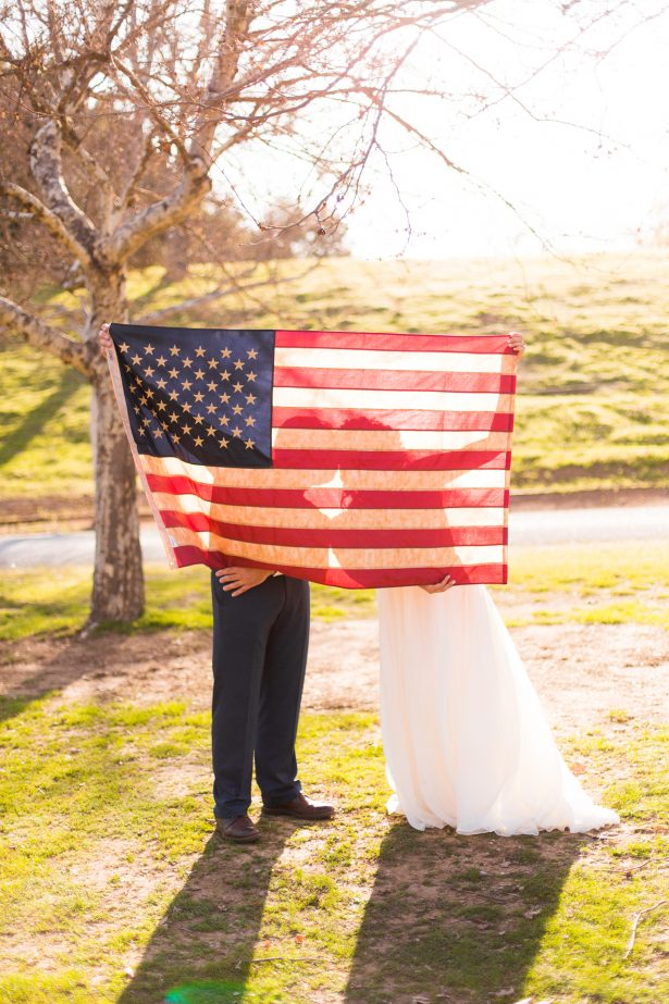 "All-American Wedding Inspiration with Boho Touches - Holley Elizabeth Photography ""width ="" 615 ""height ="" 923 ""data-pin-description ="" Romantic sunset wedding photo 