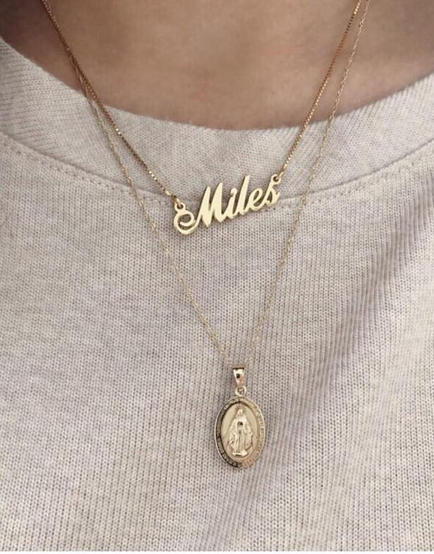 "Personalized Jewelry - Fabulous Bridesmaid Gift Ideas Your Best Will Love ""width ="" 615 ""height ="" 786 ""data-pin-description ="" Name Necklace by oNecklace 