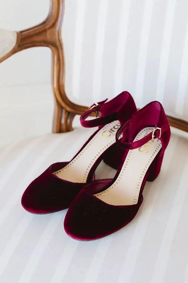 Burgundy Wedding shoes - Purewhite Photography