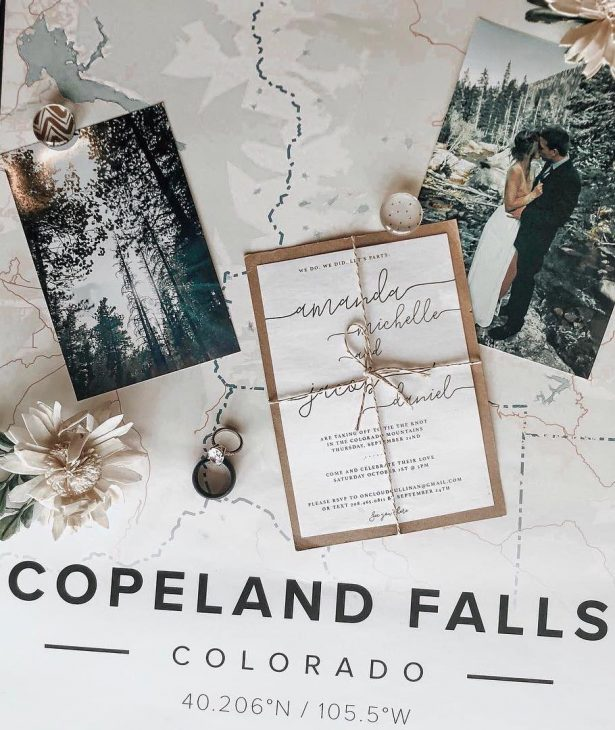 Wedding Map - Mapiful - @onedopemama