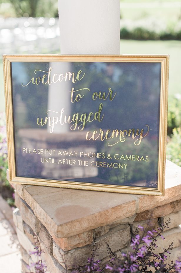 Gold Wedding sign - Photography: The Hendricks