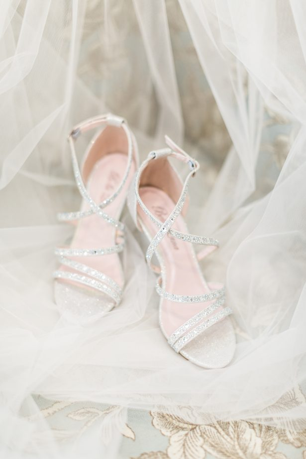 Glitter silver sparkly wedding shoes - Photography: The Hendricks