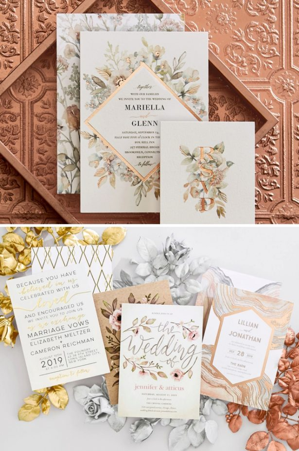 Metallic Wedding Invitations - The Wedding Shop at Shutterfly