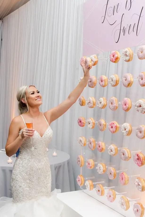 Wedding donut wall - Krystle Akin Photography