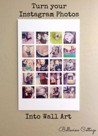 Create Instagram Wall Art!  Belleview Cottage