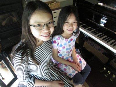Piano students May and Kim - 2