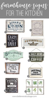 Farmhouse Style Kitchen Wall Decor - Bellewood Cottage