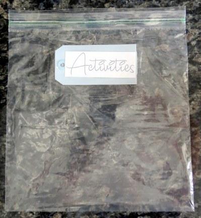 Hospital Care Pakcage - Printouts on Ziploc bags