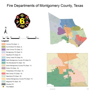 Map Fire Departments Of Montgomery County Texas
