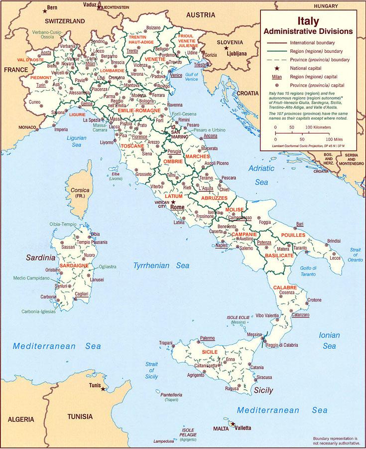Carte De L Italie Du Nord : carte, italie, Régions, Italiennes