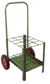 Multiple D & E Size Cylinder Cart