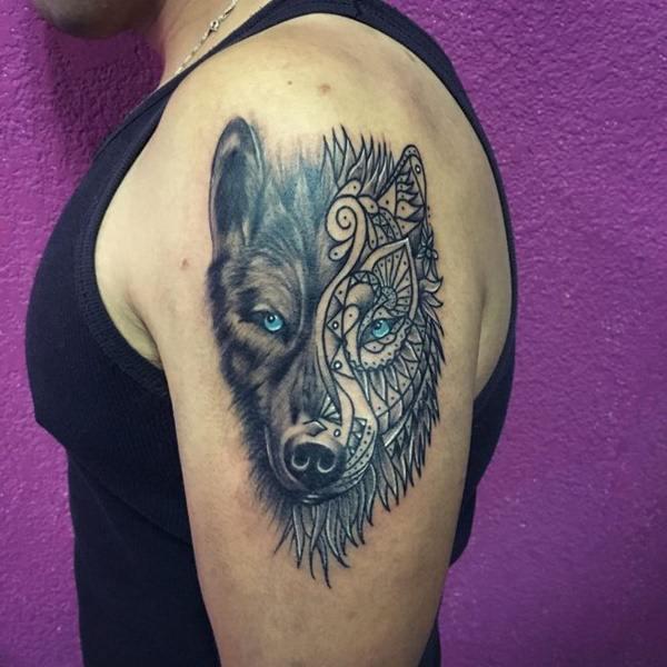 Fearless Alpha Wolf Tattoo